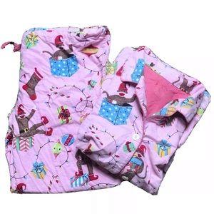 XL Nick & Nora Sock Monkey Christmas Pajama Set